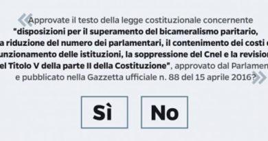 Referendum Parlamentare, una scelta responsabile per il futuro del nostro Paese