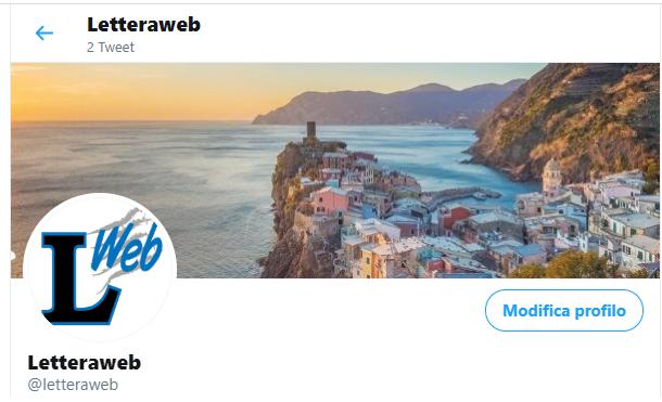 Letteraweb ora anche su twitter